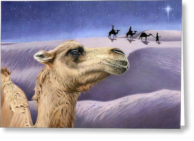 Holy Night Greeting Card by Sarah Batalka