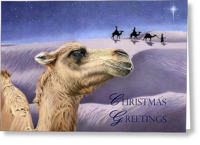 Holy Night- Christmas Greetings Cards Greeting Card by Sarah Batalka