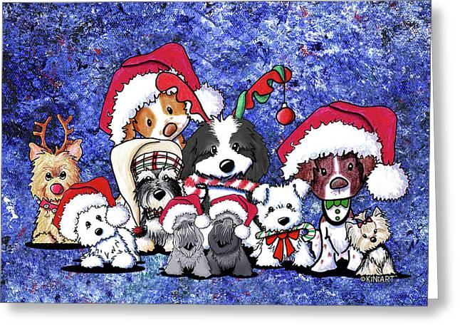 Kiniart Christmas Party Greeting Card by Kim Niles