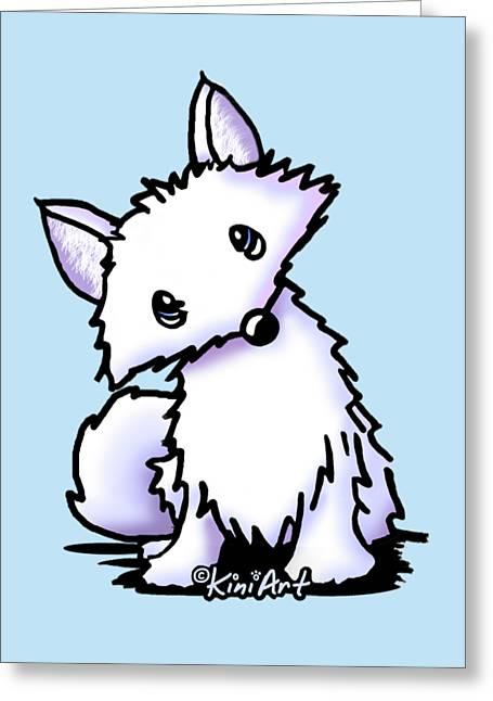 Arctic Fox Greeting Card by Kim Niles
