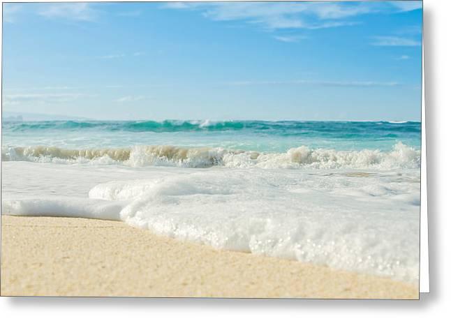 Beach Photography Greeting Cards - Aloha Kapukaulua Greeting Card by Sharon Mau