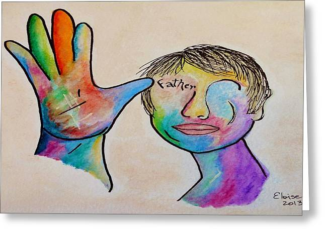 American Sign Language  Father Greeting Card by Eloise Schneider