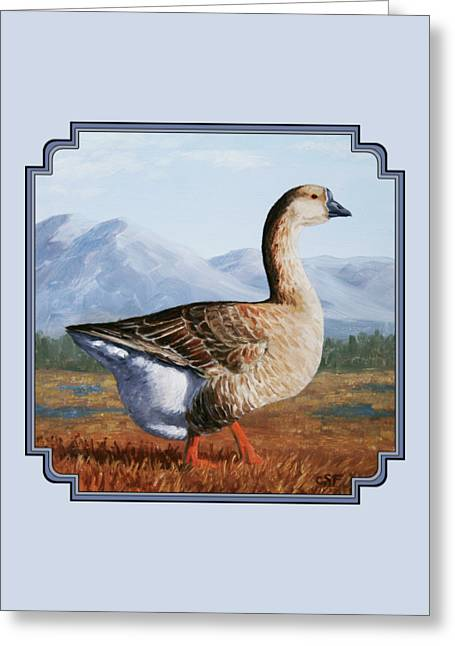Brown Chinese Goose Greeting Card by Crista Forest