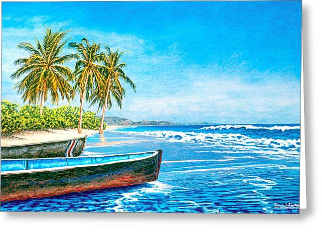 Soft Light Pastels Greeting Cards - Aruba Greeting Card by David Linton