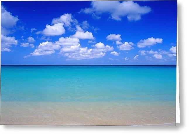 Aruba Greeting Cards - Aruba sky and sea Greeting Card by Robert Ponzoni