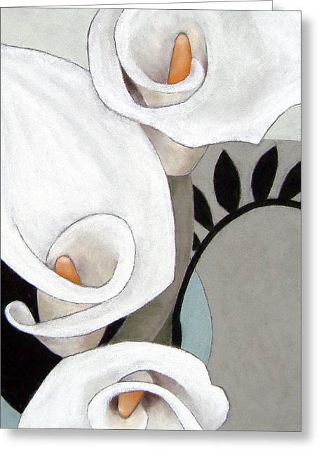 Arum, Three Greeting Card by Susan Lishman