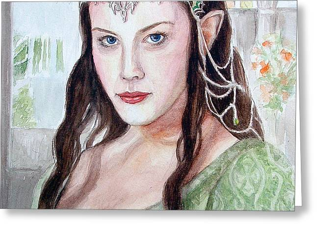 Arwen Greeting Card by Mamie Greenfield