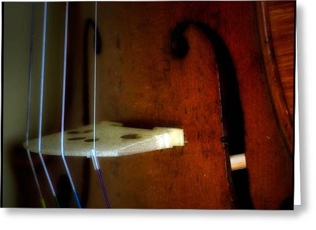 Violin Digital Greeting Cards - As Beauty Sounds  Greeting Card by Steven  Digman