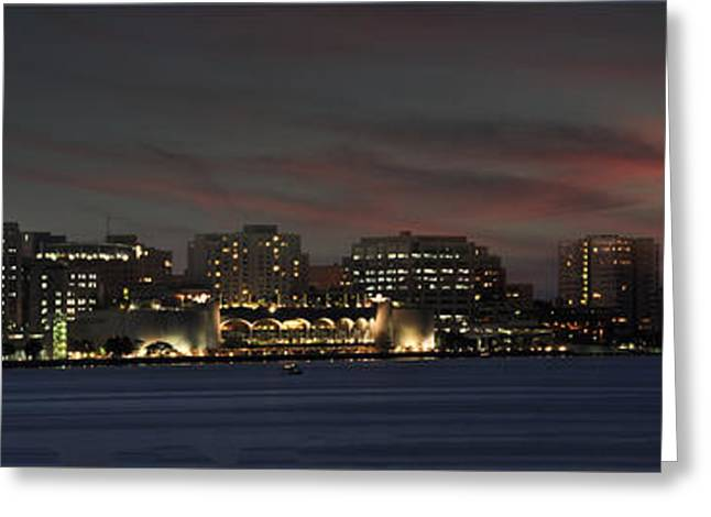 Reflecting Water Greeting Cards - As Darkness Falls Greeting Card by Deborah Klubertanz