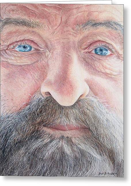 Dad Eyes Greeting Cards - As He Ages Greeting Card by Shana Rowe
