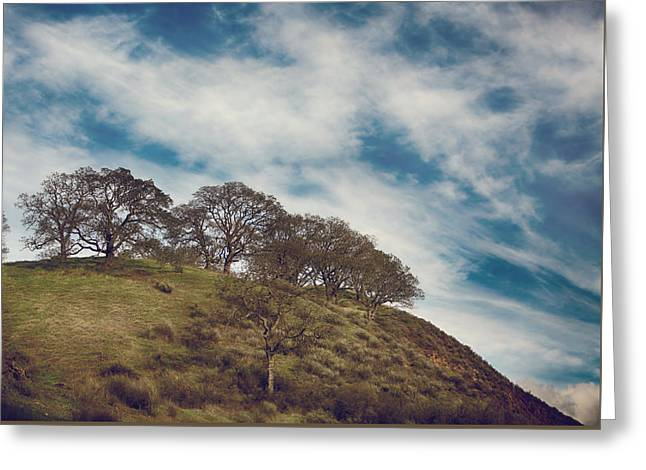 Mountaintop. Trees Greeting Cards - As High As Souls Can Fly Greeting Card by Laurie Search