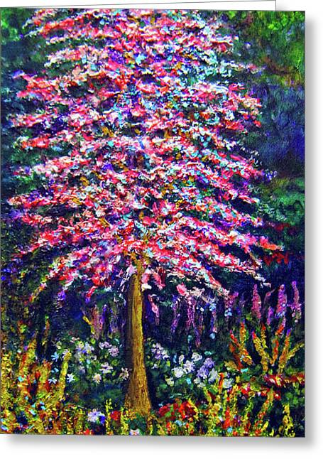 Red Bud Trees Greeting Cards - As Lovely... Greeting Card by Michael Durst