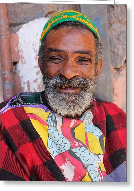 Old Man With Beard Greeting Cards - As-Salaam Alaikum  Greeting Card by Ramona Johnston