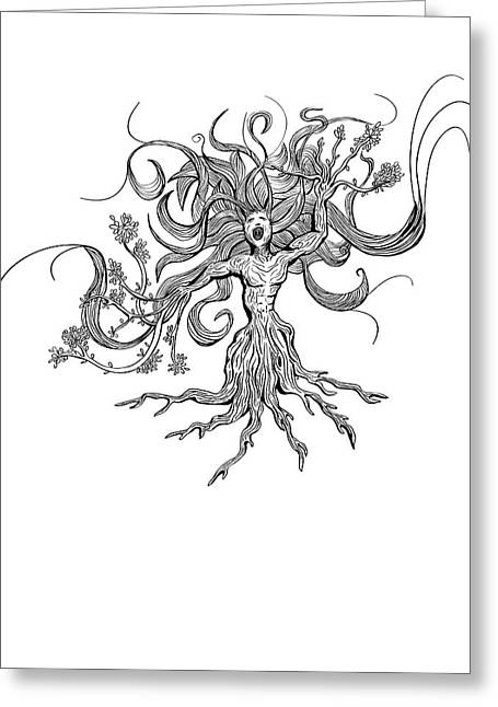 Selling Artwork Online Greeting Cards - As the Earth Screams Greeting Card by Paul Telling