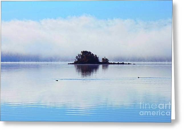 As The Fog Clears Greeting Card by Cathy  Beharriell