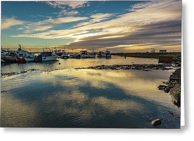 As The Sun Sets Greeting Card by Keith Sayer