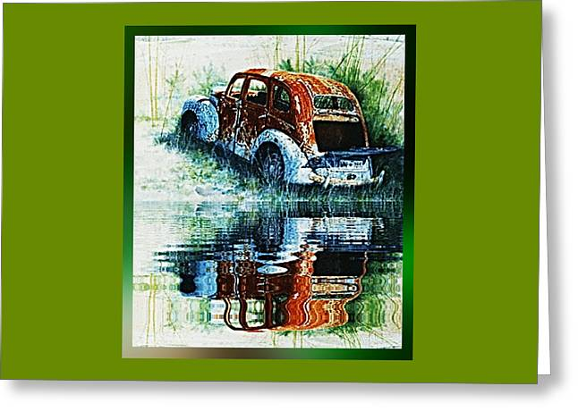 Rusted Cars Greeting Cards - As Time goes by. . . Greeting Card by Hartmut Jager