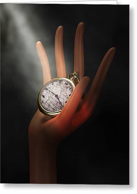 Clock Hands Greeting Card featuring the photograph As Time Goes By by Tom Mc Nemar
