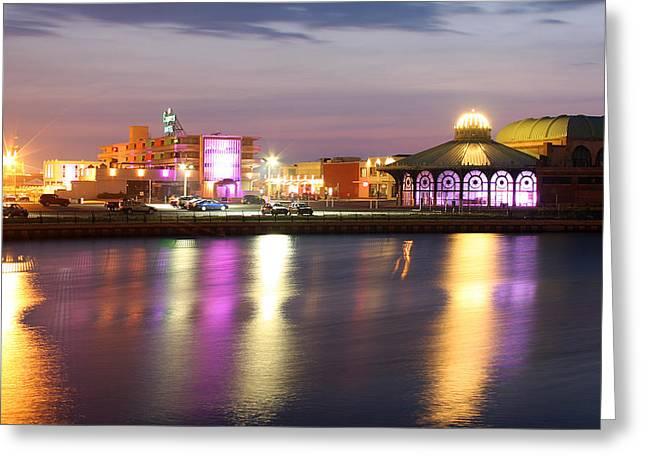 Asbury Casino Greeting Cards - Asbury Merry-Go-Round Greeting Card by Jeff Bord