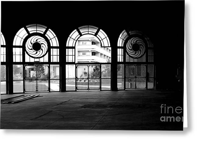 Asbury Park Carousel House Greeting Cards - Asbury Park Casino carousel house interior Greeting Card by Ben Schumin