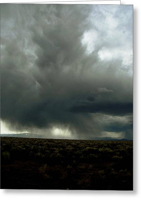 Thunderstorm Drawings Greeting Cards - Ascend  Greeting Card by Kalen Malueg