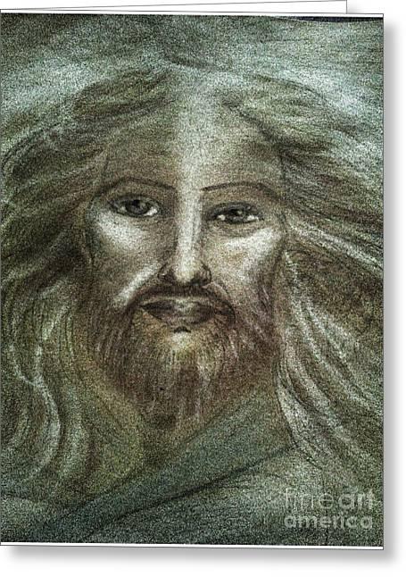 Jesus Pastels Greeting Cards - Ascended Master Jesus Greeting Card by Jennifer Kamadon