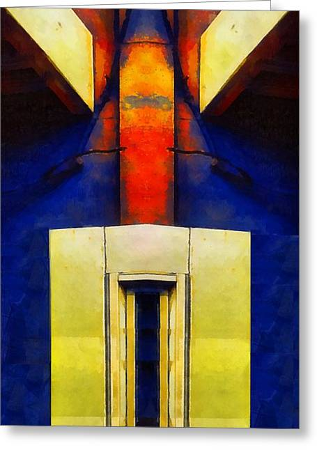 Geometric Art Greeting Cards - Ascension Greeting Card by RC deWinter