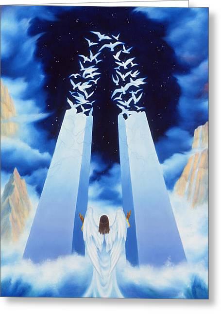 Fantasy World Greeting Cards - Ascension Greeting Card by Toni Taylor