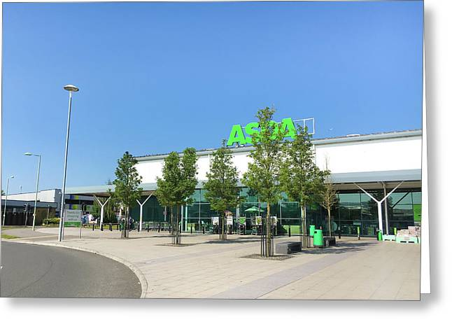 Asda Store Greeting Card by Tom Gowanlock