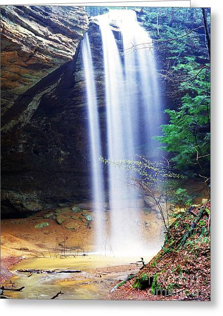 Recesses Greeting Cards - Ash Cave Waterfall Greeting Card by Thomas R Fletcher
