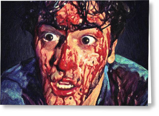 Horror Film Greeting Cards - Ash Williams Greeting Card by Taylan Soyturk