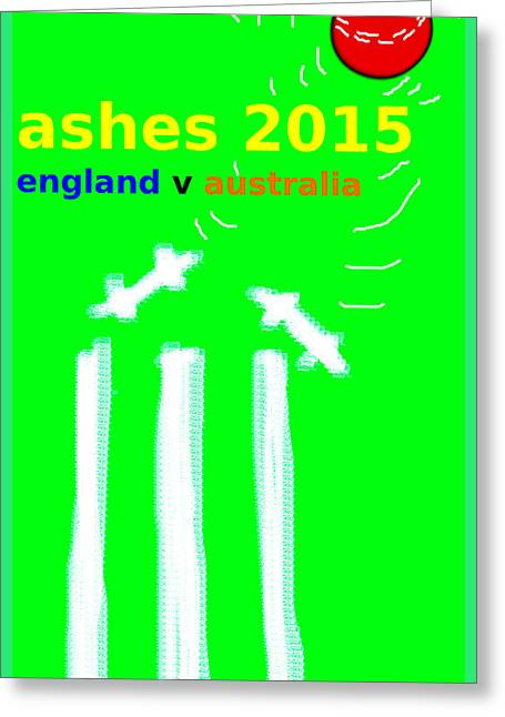 Wimbledon Drawings Greeting Cards - Ashes poster  Greeting Card by Paul Sutcliffe