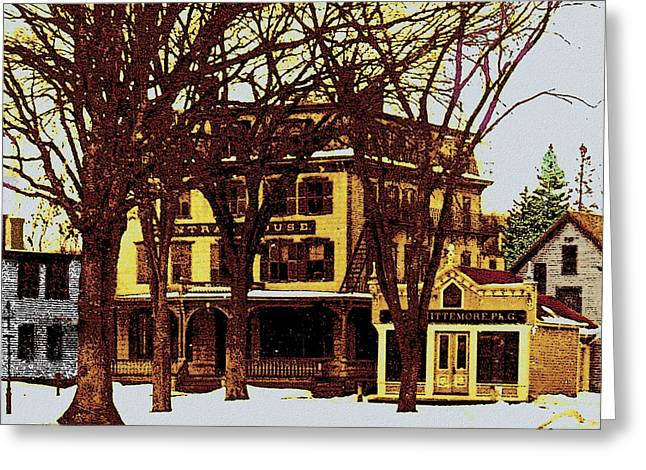 New England Village Greeting Cards - Ashland Mass 1930s Greeting Card by Cliff Wilson