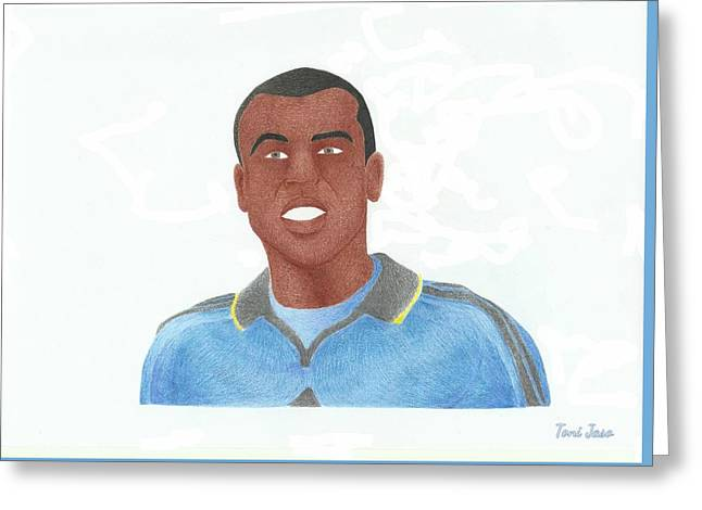 Player Drawings Greeting Cards - Ashley Cole Greeting Card by Toni Jaso