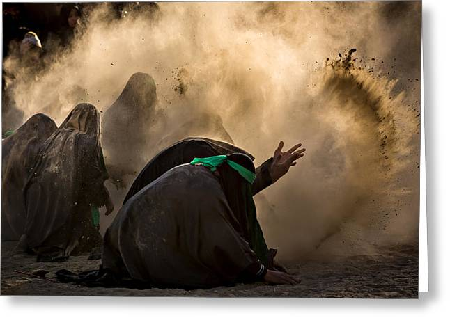 Documentary Photographs Greeting Cards - Ashura Pm2 Greeting Card by Mohammadreza Momeni