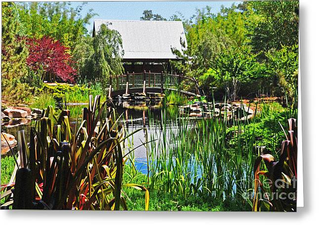 Jacksonville Greeting Cards - Asian Garden 2 Greeting Card by Lydia Holly