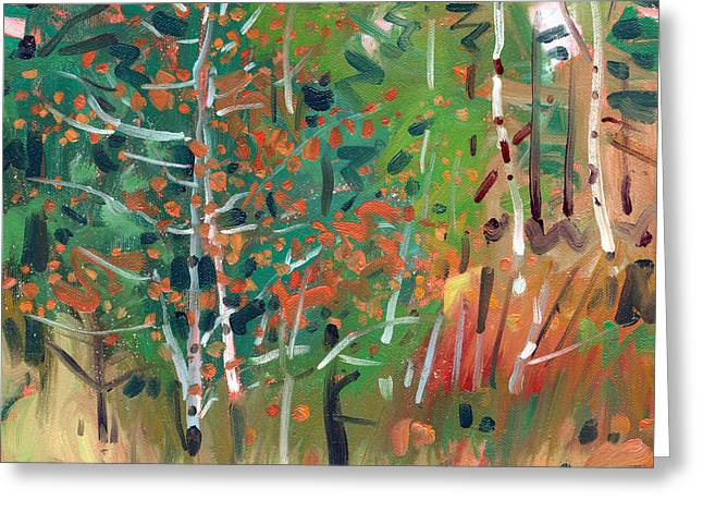 Autumn Prints Greeting Cards - Aspen in Autumn Greeting Card by Donald Maier