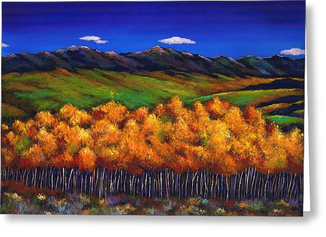 Aspen In The Wind Greeting Card by Johnathan Harris