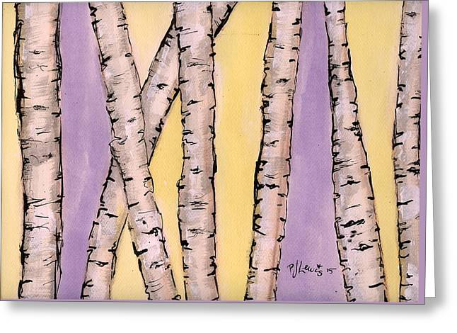 Violet Drawings Greeting Cards - Aspen Greeting Card by P J Lewis