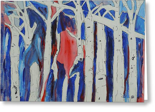 Aspen roots Greeting Card by Christy Woodland