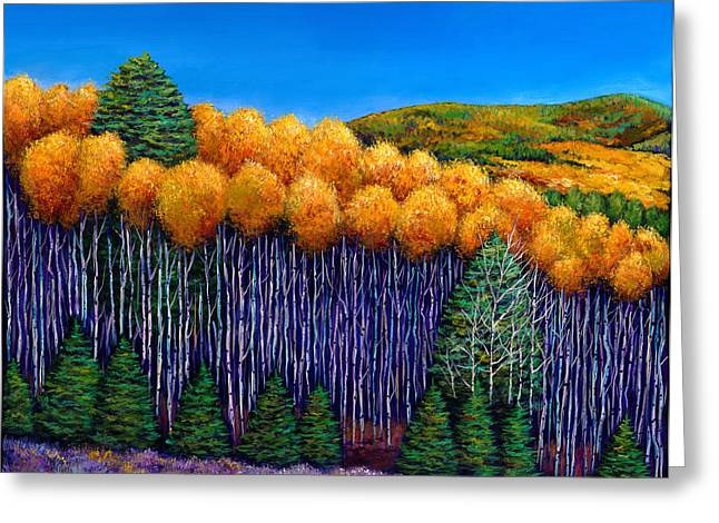 Big Sky Country Greeting Cards - Aspen Slopes Greeting Card by Johnathan Harris