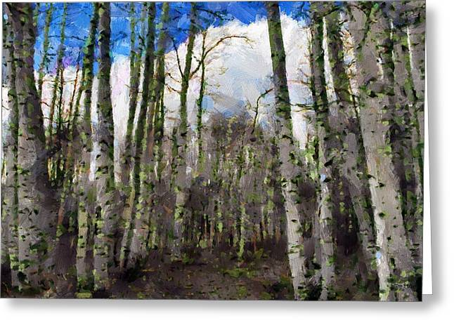 Aspen Greeting Cards - Aspen Standing Greeting Card by Jeff Kolker