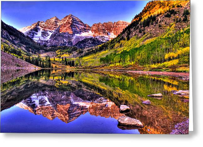 Snow Capped Greeting Cards - Aspen Wonder Greeting Card by Scott Mahon