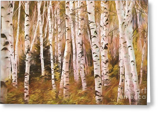Nature Abstract Greeting Cards - Aspens Bewitched Greeting Card by Steve Bailey