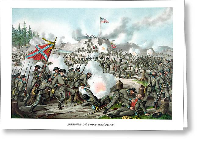 Civil War Battlefield Greeting Cards - Assault On Fort Sanders Greeting Card by War Is Hell Store