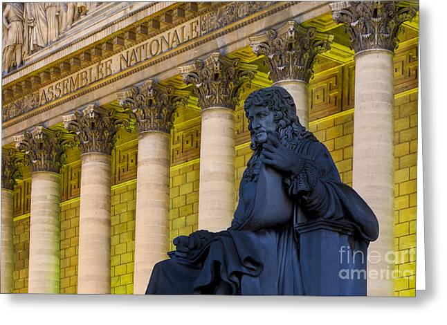 Colbert Greeting Cards - Assemblee Nationale - Paris Greeting Card by Brian Jannsen