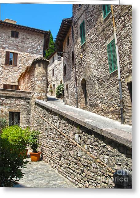 Assisi Italy Greeting Card by Gregory Dyer