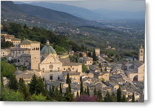 Chiara Greeting Cards - Assisi Pano Greeting Card by Brian Jannsen