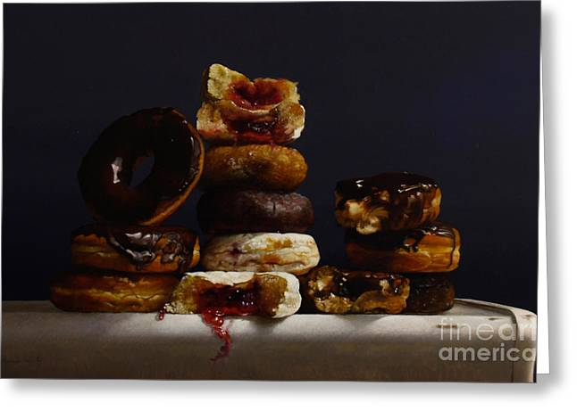 Assorted Donuts Greeting Card by Larry Preston
