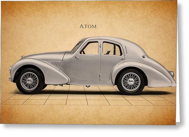Cars Greeting Cards - Aston Martin Atom Greeting Card by Mark Rogan